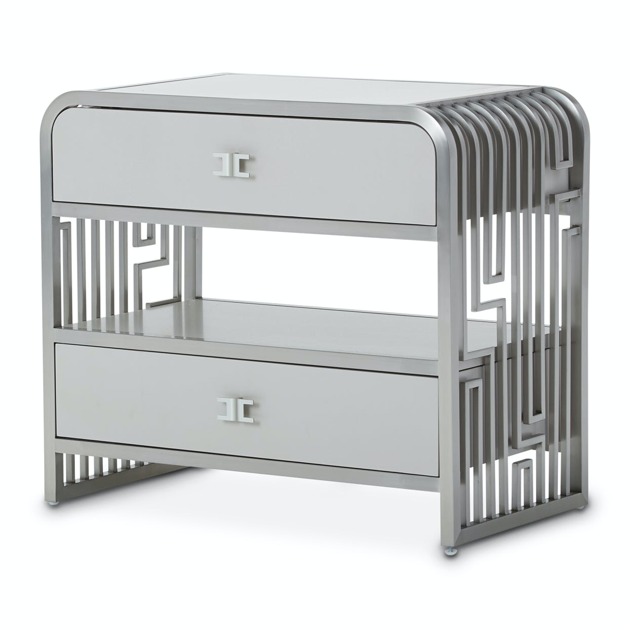 Aico Furniture 9006042 13 Bedroom 2 Drawer Nightstand