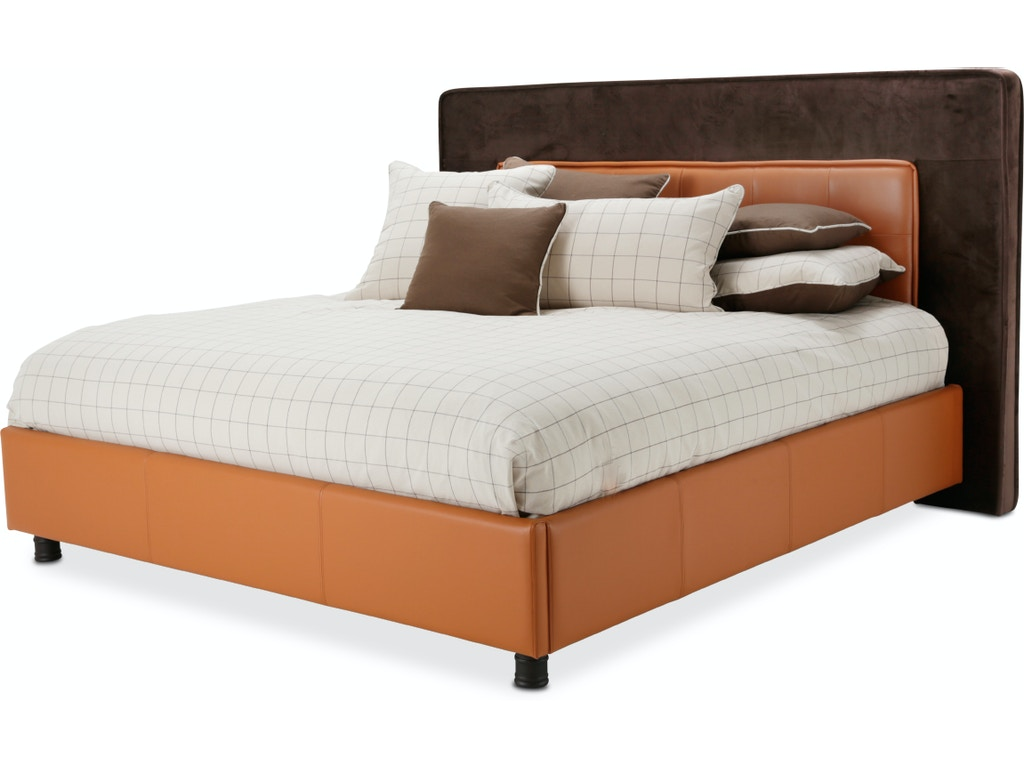 Aico Furniture 9029000ckt 812 Bedroom Cal King Upholstered Tufted Bed