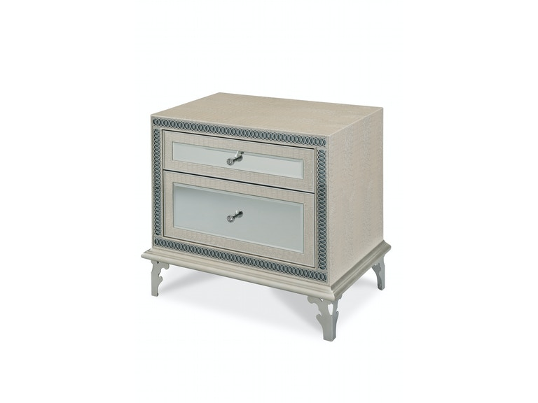 Aico Furniture Hollywood Swank Upholstered Night Stand 03040-09