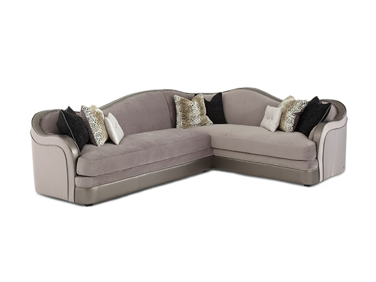 Aico Furniture 2 pc Sectional 03812-23-SILVR-00
