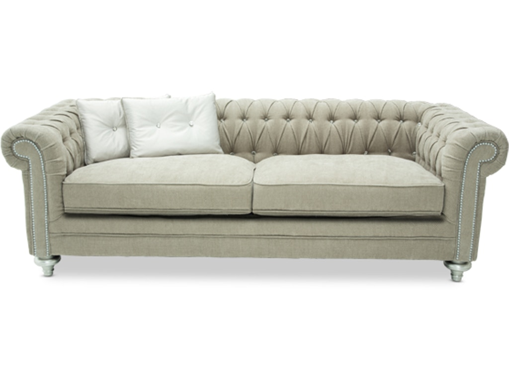 Aico Furniture 03815 Pltnm 05 Living Room Hollywood Swank Grp 2 Op 1 Sofa