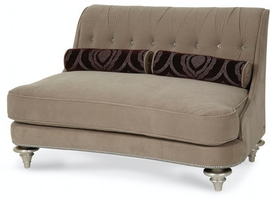 Aico Furniture Hollywood Swank Op2 Settee 03864-TAUPE-05
