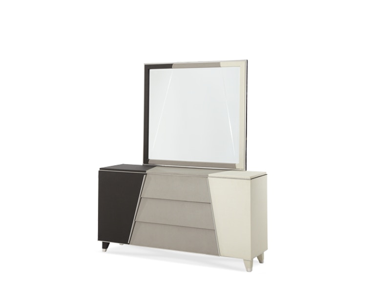Aico Furniture Upholstered Dresser and Mirror (2pc) 06050-60-93