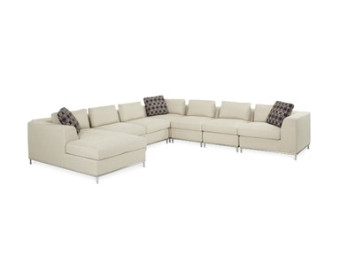 Aico Furniture LAF 7pc Sectional Set Group 0684SEC-CREAM-13