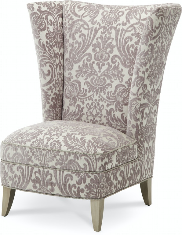 Aico Furniture 08836 Pltnm 05 Living Room Overture Hi Back Chair
