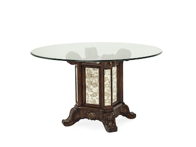 Aico Furniture 54 Round Glass Top with Table Base 09001RNDGL54-229