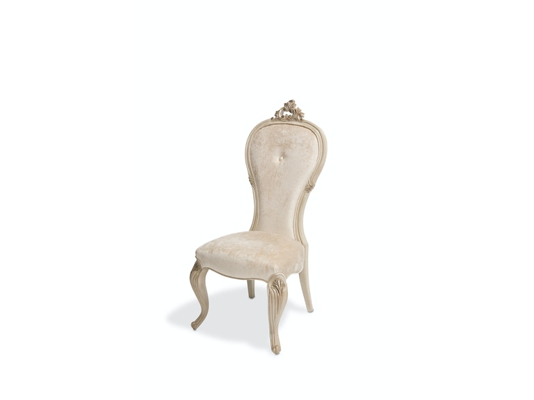 Aico Furniture Platine de Royale Side Chair Champagne 09003-201