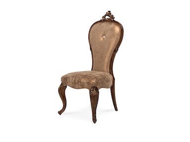 Aico Furniture Platine de Royale Side Chair Light Espresso 09003-229