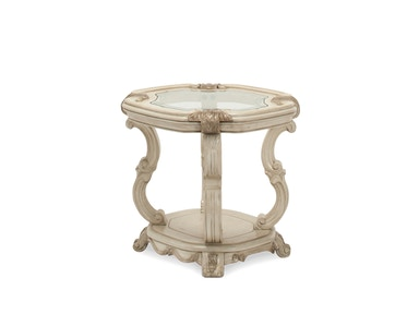 Aico Furniture Platine de Royale End Table Champagne 09202-201