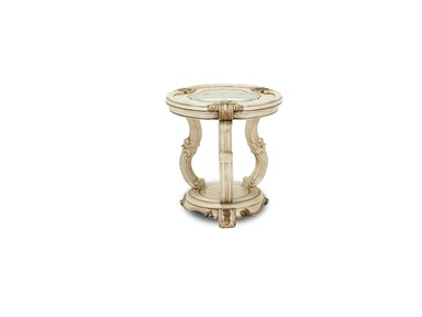 Aico Furniture Platine de Royale Chair Side Table Champagne 09222-201