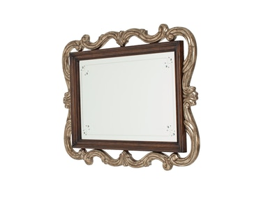 Aico Furniture Platine de Royale Wall Mirror Light Espresso 09260-229