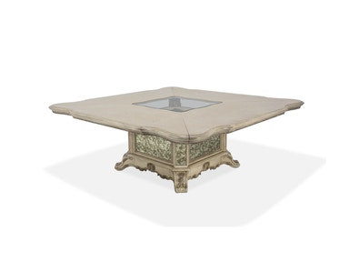 Aico Furniture 84 Square Dining Room Table (2 pcs) 09304-201