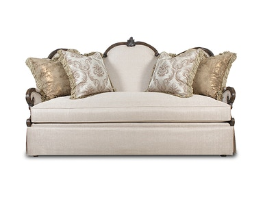 Aico Furniture Platine de Royale Wood Loveseat Grp1 Opt2 LtEspresso 09825-STONE-229