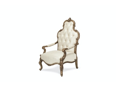 Aico Furniture Platine de Royale Wood Chair Antique Platinum 09834-PLTNM-101