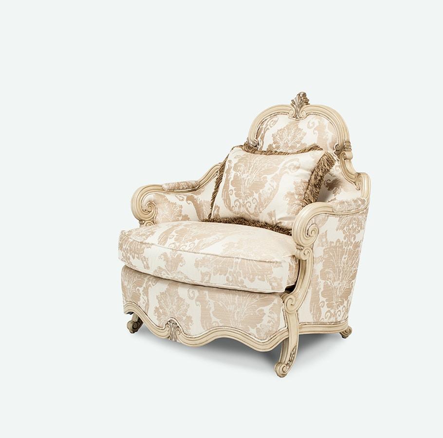 Aico Furniture Platine De Royale Chair U0026 A Half Grp1 Opt1 Champagne  09838 CHPGN