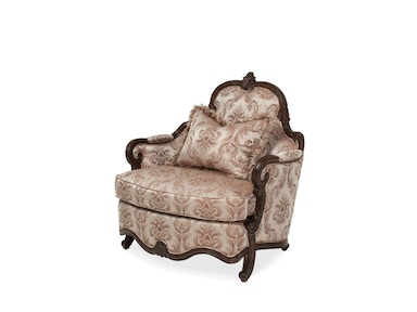 Aico Furniture Platine de Royale Chair and Half Grp1 Opt2 Lt Espresso 09838-STONE-229