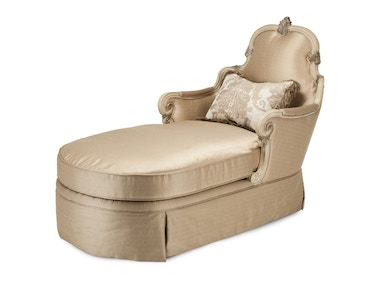 Aico Furniture Platine de Royale Wood Trim Chaise Champagne 09845-CHPGN-201