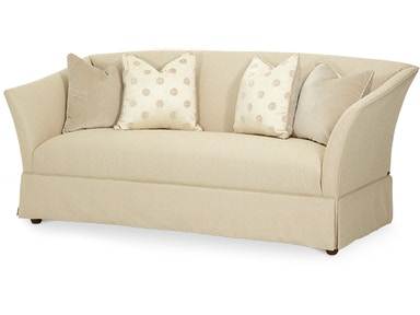 Aico Furniture After Eight Flare Arm Sofa Grp1,Opt.1 19815-LTGLD-00