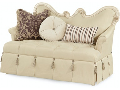 Aico Furniture Lavelle Op 2 Wood Trim Settee 54864-CHPGN-04