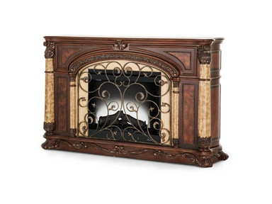 Aico Furniture Victoria Palace Fireplace with Insert Light Espresso 61220FPL2-29