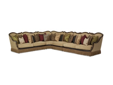 Aico Furniture 4 pc Sectional Set 618SEC4-AMBER-29