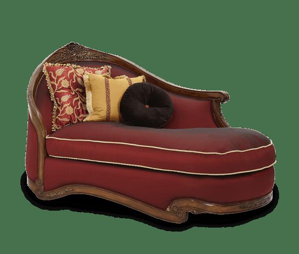 aico furniture wood trim laf chaise