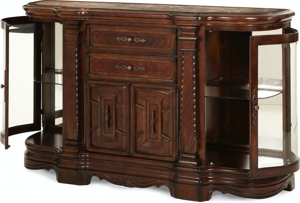 Aico furniture 70007 54 dining room windsor court sideboard vintage fruitwood for Aico windsor court living room
