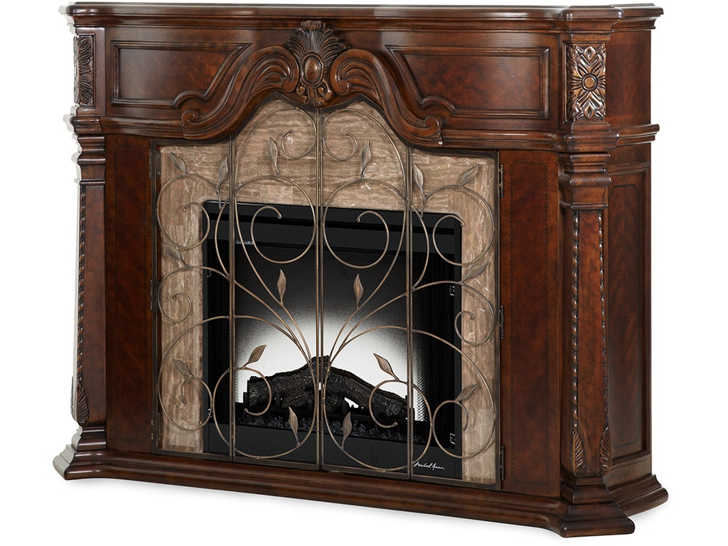 Aico Furniture Living Room Windsor Court Fireplace 70220 54 Goods Home Furnishings North
