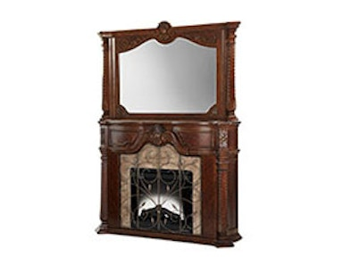 Aico Furniture Fireplace and Mirror 70220FPL-54