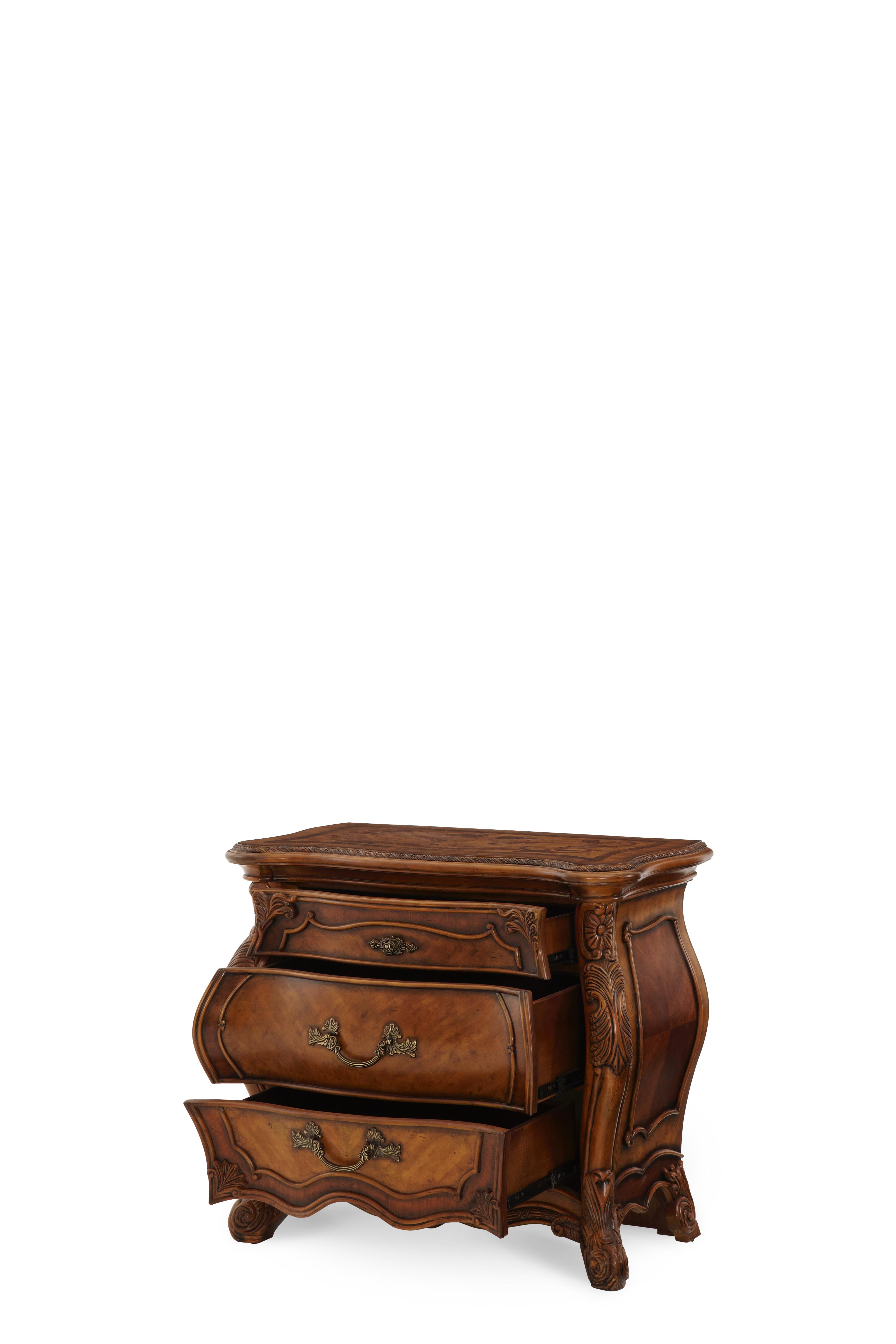 Aico Furniture Palais Royale Nightstand Rococo Cognac 71040 35