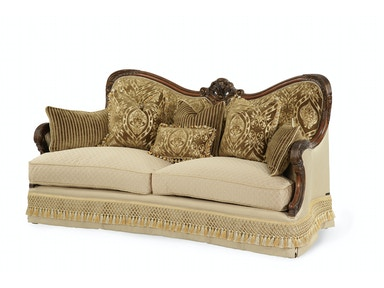 Aico Furniture Chateau Beauvais Op1 Wood Trim Sofa 75815-ANGLD-39
