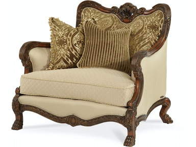 Aico Furniture Chateau Beauvais Op1 Wood Trim Chair and a Half 75838-ANGLD-39