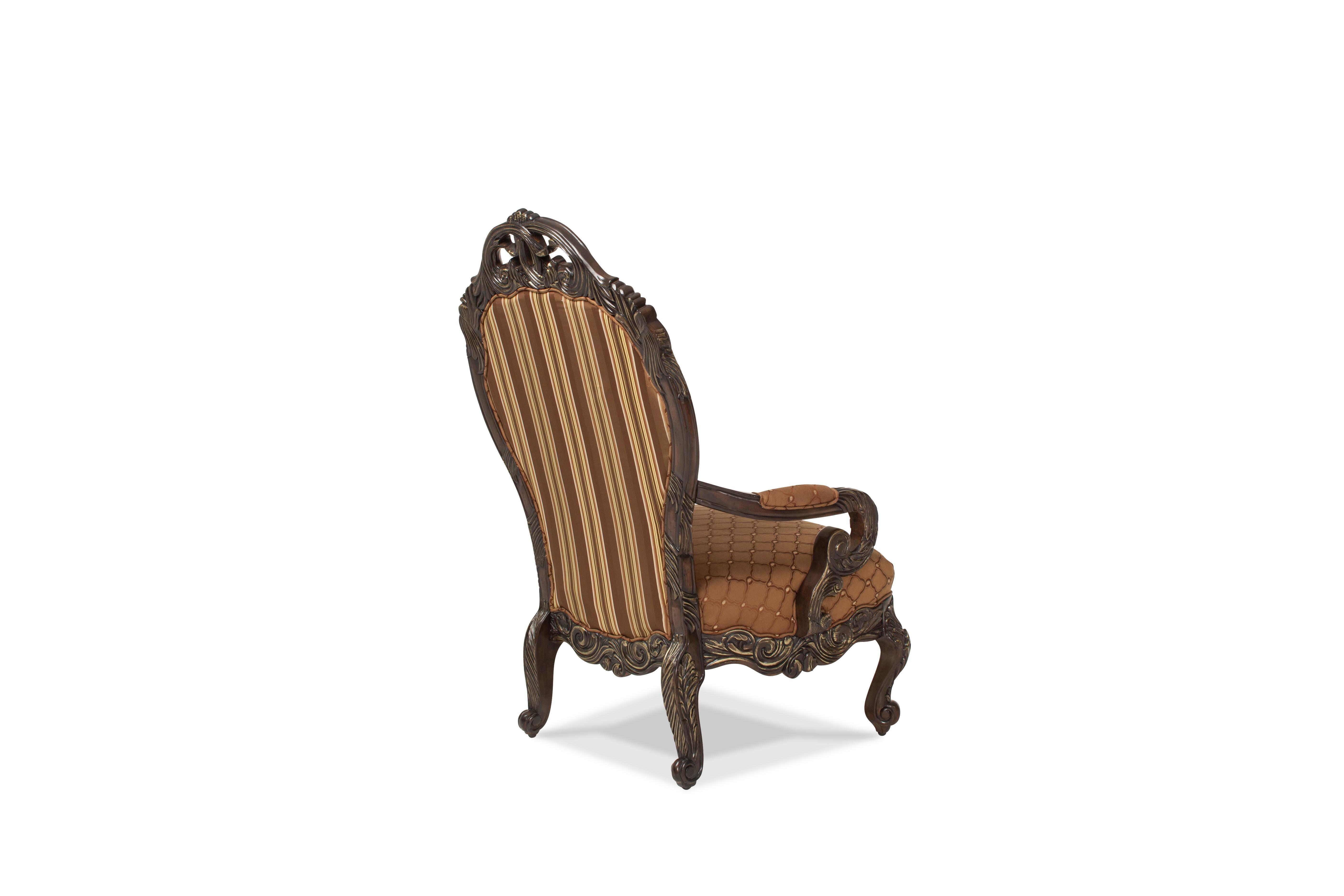 Superior Aico Furniture Essex Manor Op1 High Back Wood Trim Chair 76834 BRGRN 57