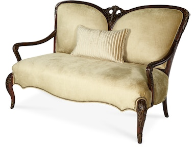 Aico Furniture Imperial Court OP1 Wood Trim Settee 79864-CHPGN-40