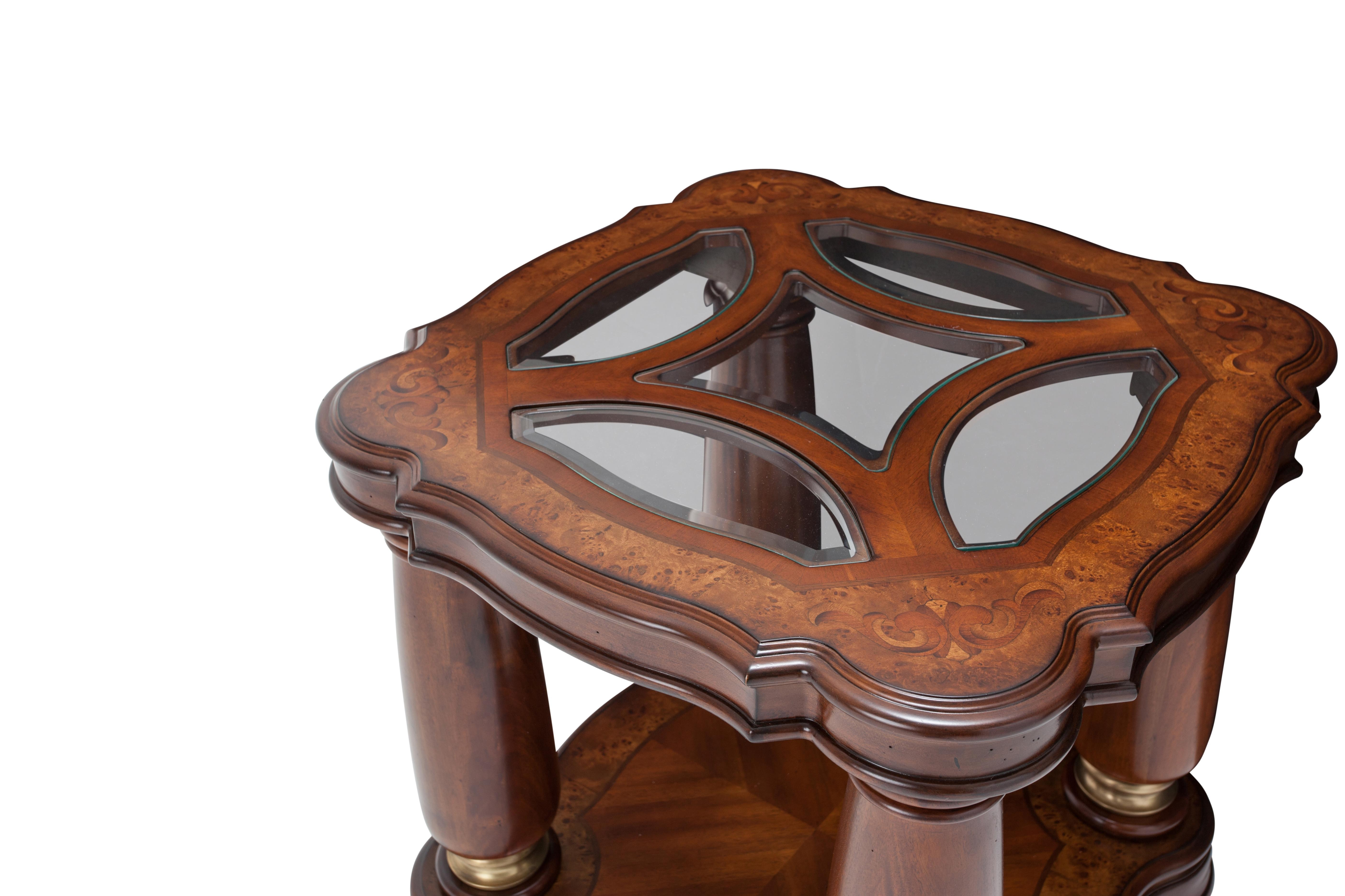 Aico Furniture Grand Masterpiece End Table Royal Sienna 9050202 402