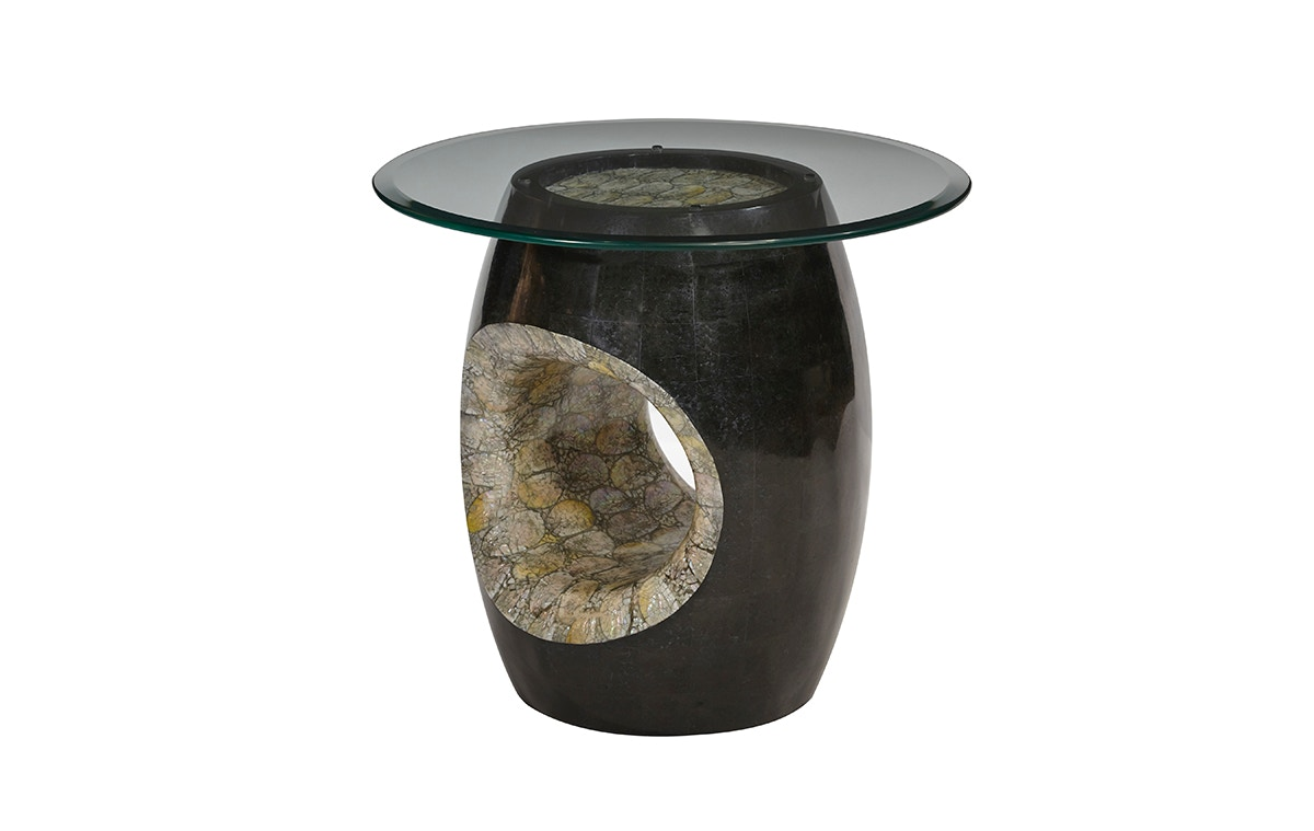 Aico Furniture Round Accent Table W/ Blackstone ACF ACT CPAN 304B