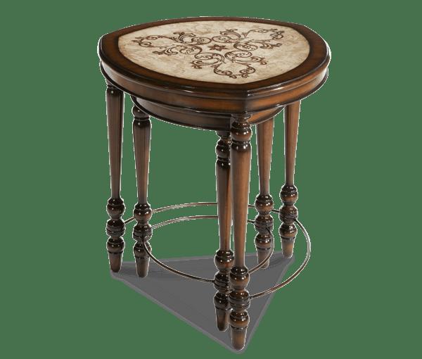 Aico Furniture Triangular Nesting Tables 2 Pc ACF NST PRGU 002