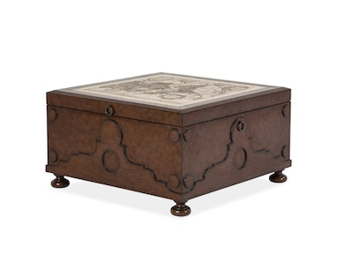 Aico Furniture Trunk with Stone Etched Inlayed ACF-TNK-001