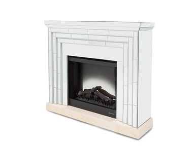 Aico Furniture Montreal Fireplace with Firebox Insert FS-MNTRL-1524FPL