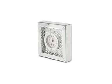 Aico Furniture Montreal Table Clock with Crystal Accents FS-MNTRL-5042