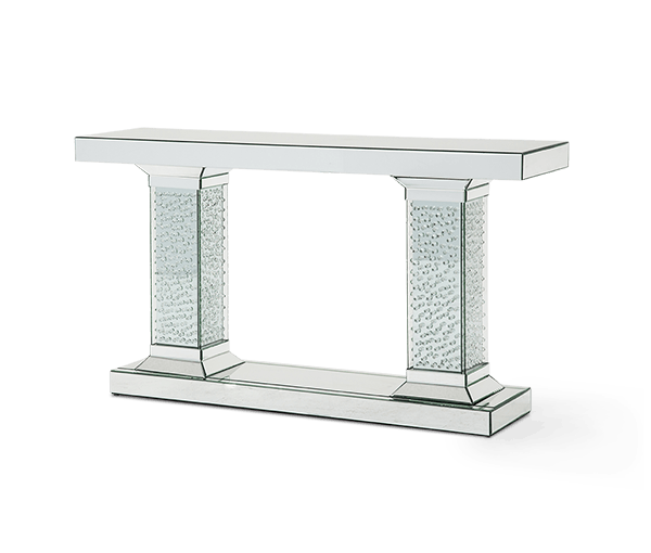 Etonnant Aico Furniture Mirrored Console Table With Crystal Accents (3 Pc)  FS MNTRL225