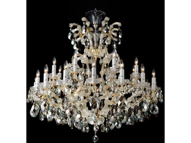 Aico Furniture La Scala 25 Light Chandelier LT-CH913-25CLR