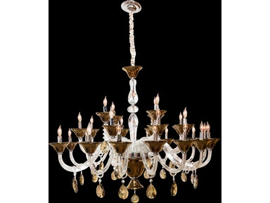Aico Furniture Rundale 28 Light Chandelier LT-CH919-28CLR