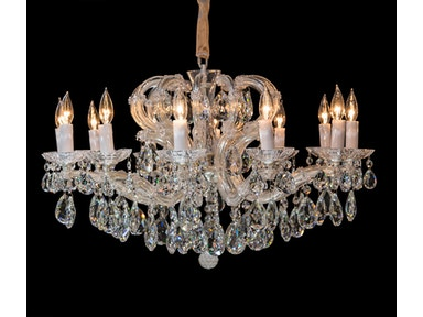 Aico Furniture Portola 12 Light Chandelier LT-CH923-12SVL