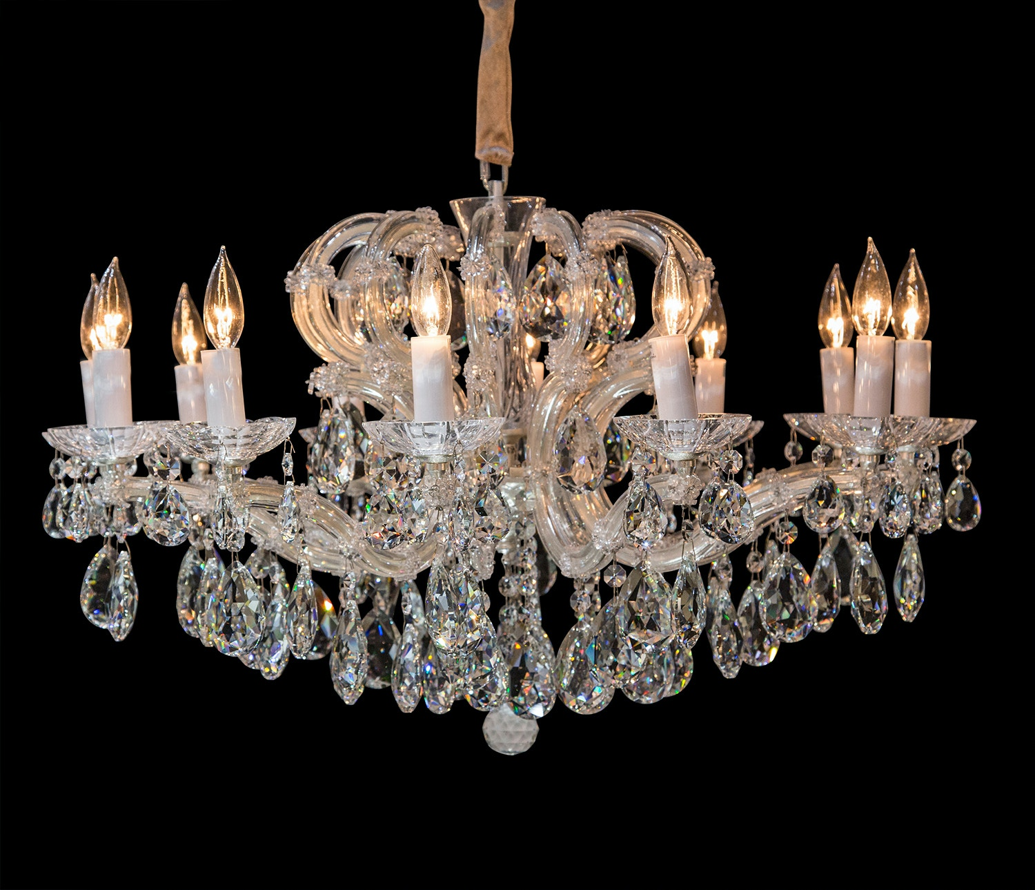 Aico Furniture Portola 12 Light Chandelier LT-CH923-12SVL : svl lighting - azcodes.com