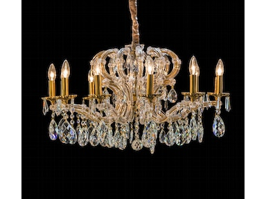 Aico Furniture Portola 12 Light Chandelier LT-CH924-12ABR