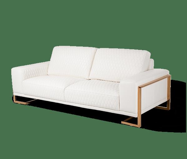 aico furniture gianna leather in white