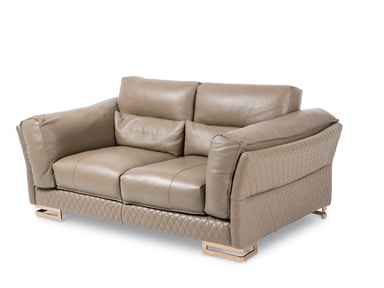 Aico Furniture Monica Leather LoveSeat in Taupe MB-MNICA25-TPE-801