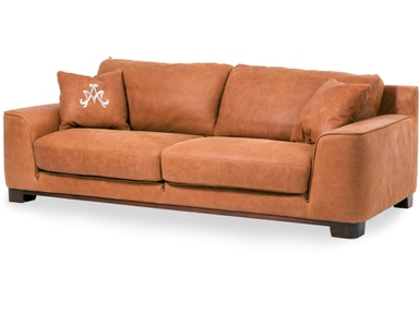 Aico Furniture Nafelli Leather Sofa in Clay MB-NAFLI15-CLY-43
