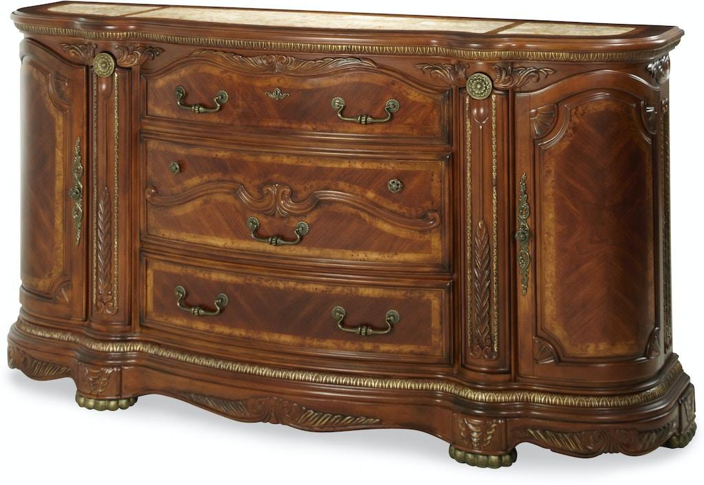 Aico Furniture N65050-28 Bedroom Cortina Dresser Honey Walnut